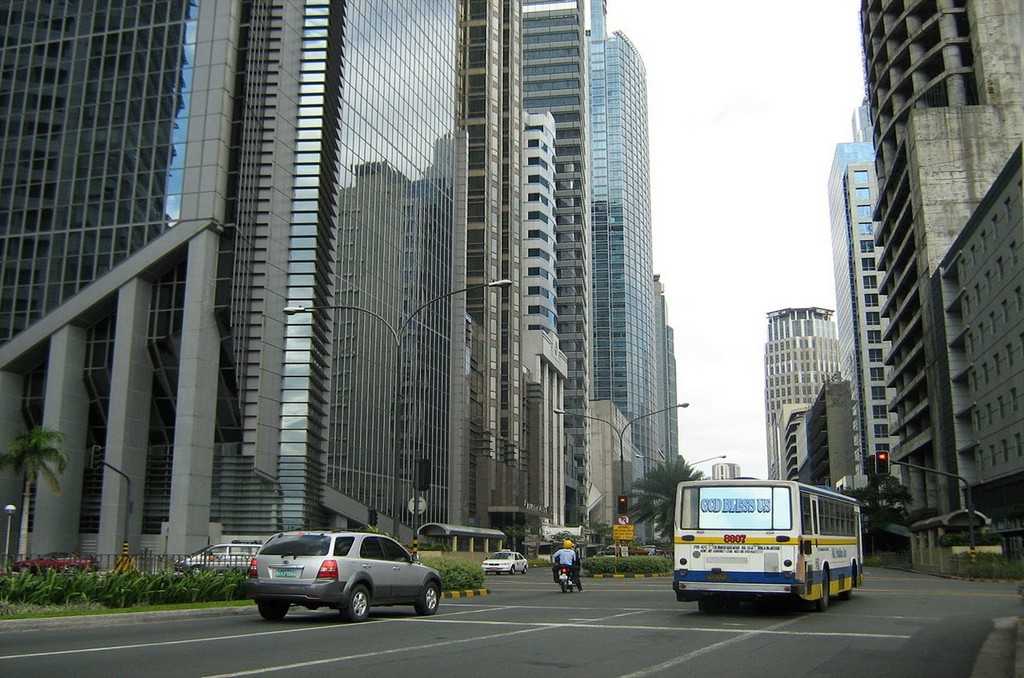 city with bus