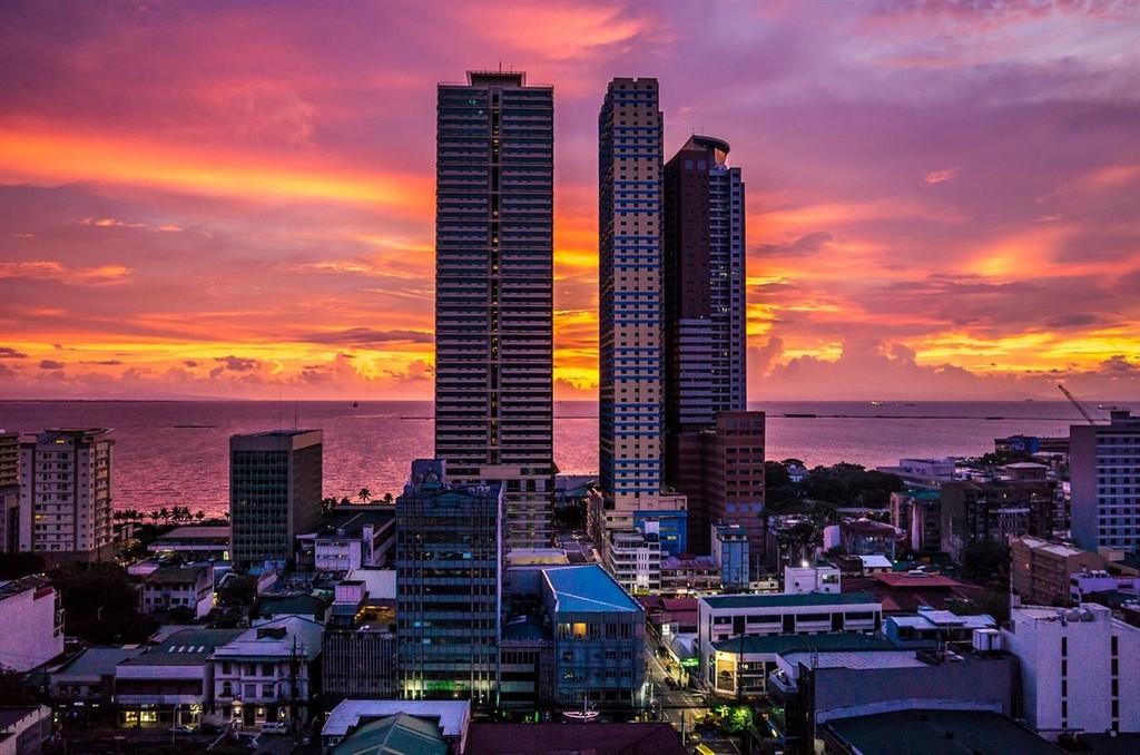 City Buildings sunset