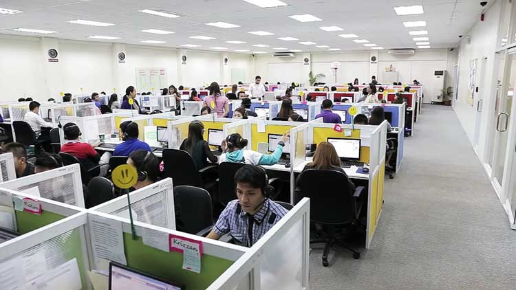 busy BPO office