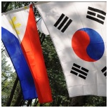 Korea and Philippines flag