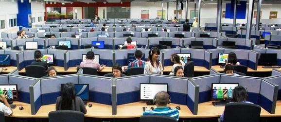 inside BPO work place