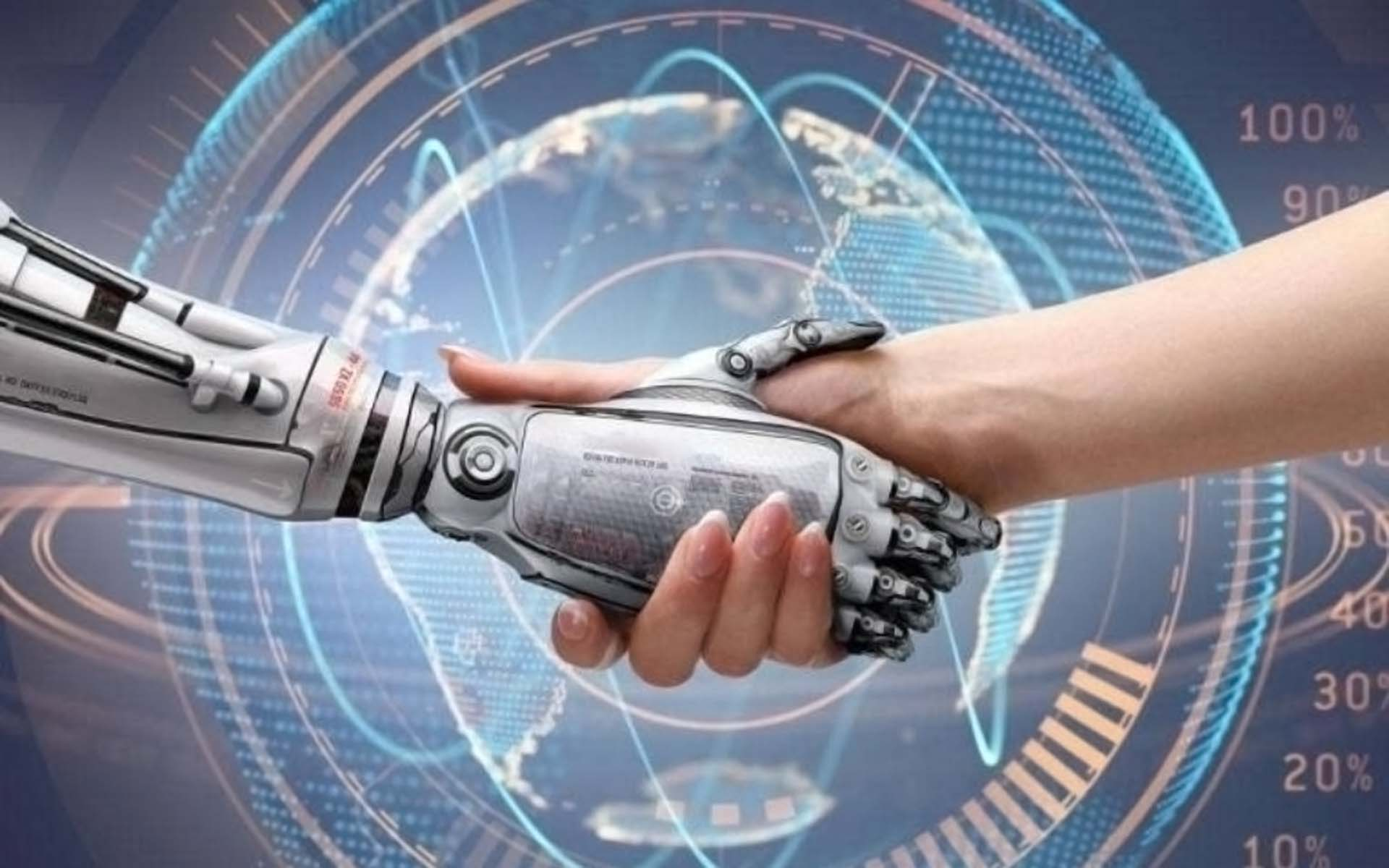 human machine hand shake