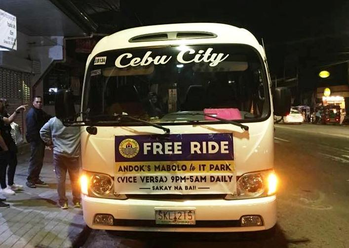 Cebu BPO workers get free bus rides