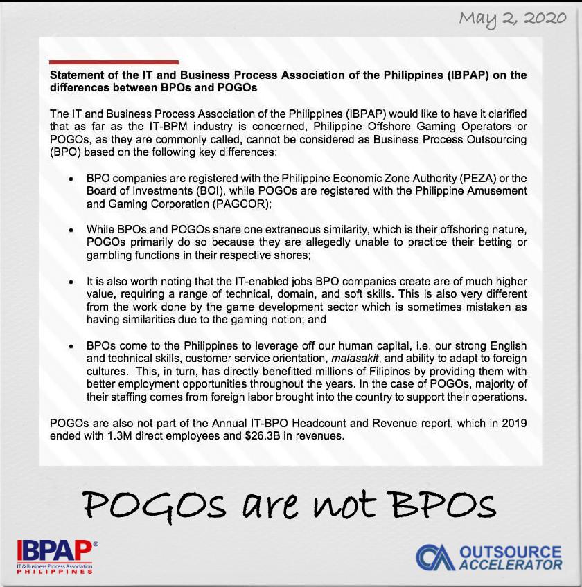 iBPAP Outsource Accelerator BPO not POGO