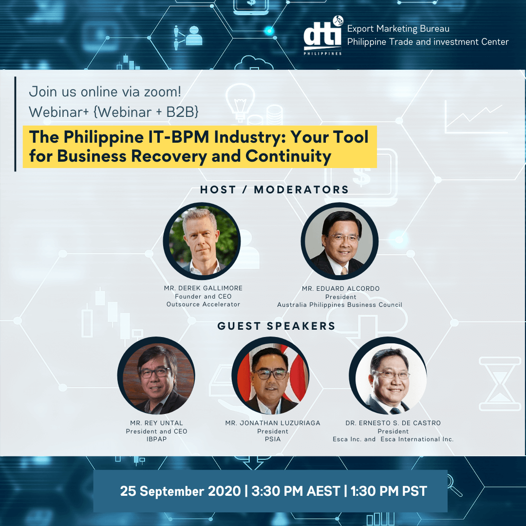 DTI to conduct IT-BPM webinar to attract Australian businesses