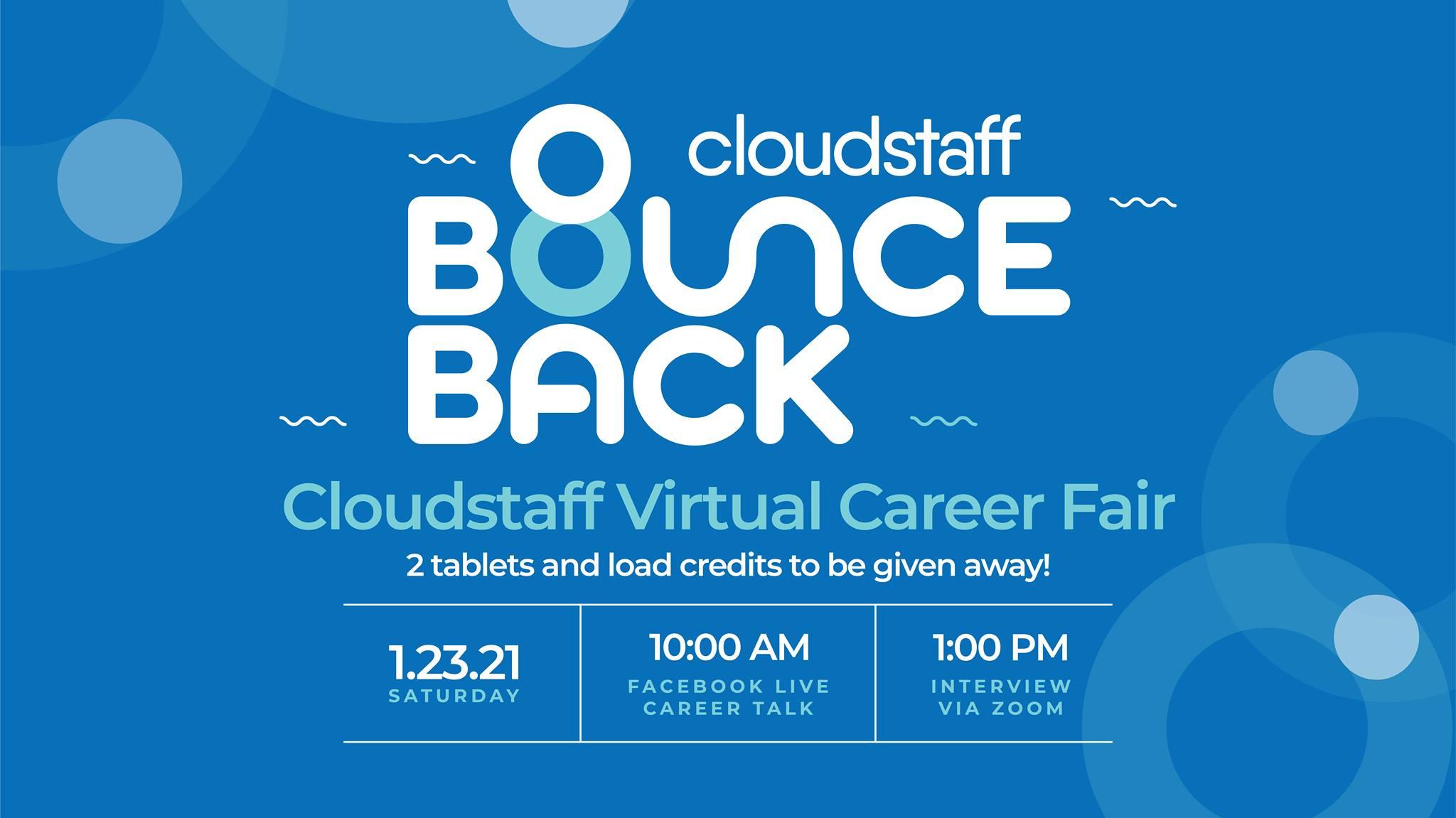 Cloudstaff to hold 'Bounce Back Virtual Career Fair'