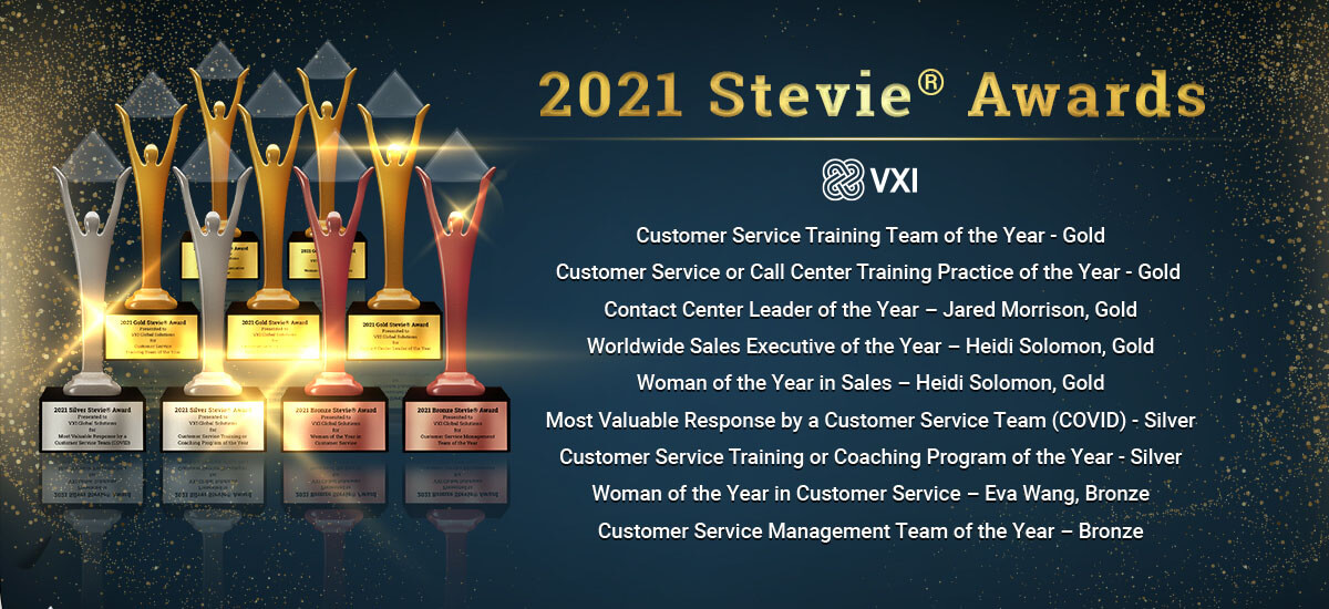 VXI wins 9 Stevie® Awards